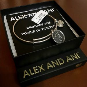 "Alex and Ani letter ""F"" bracelet."